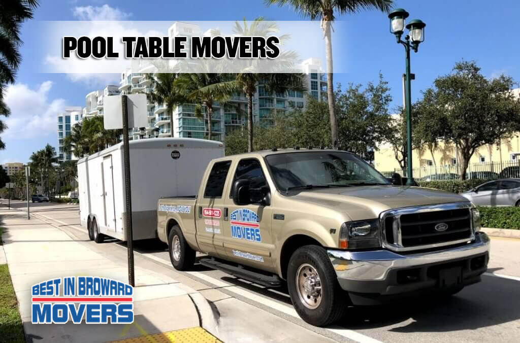 Pool Table Movers - best in broward mover