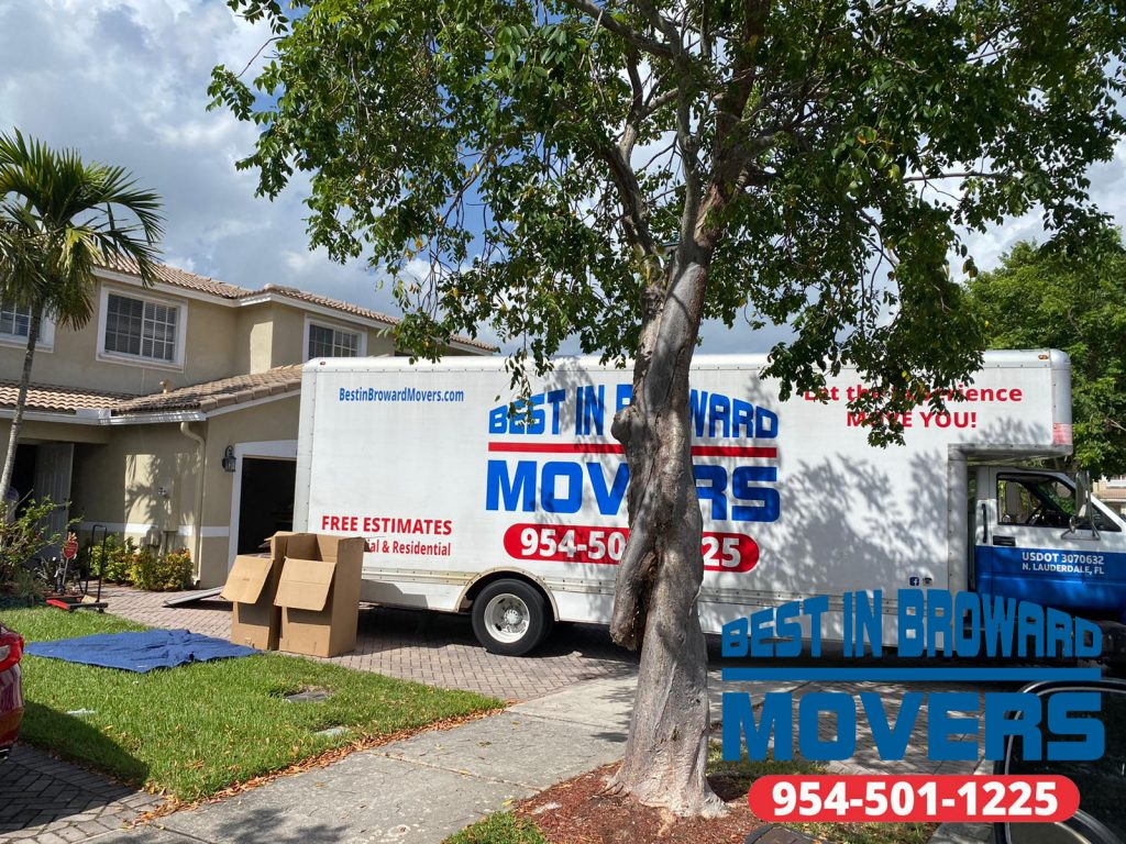 Best in Broward Movers team and truck