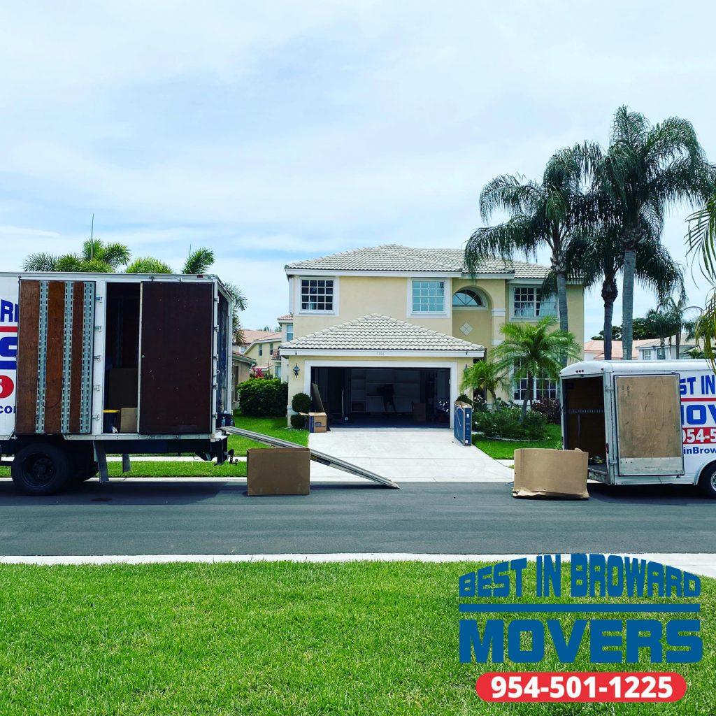 Best in Broward Movers truck loading